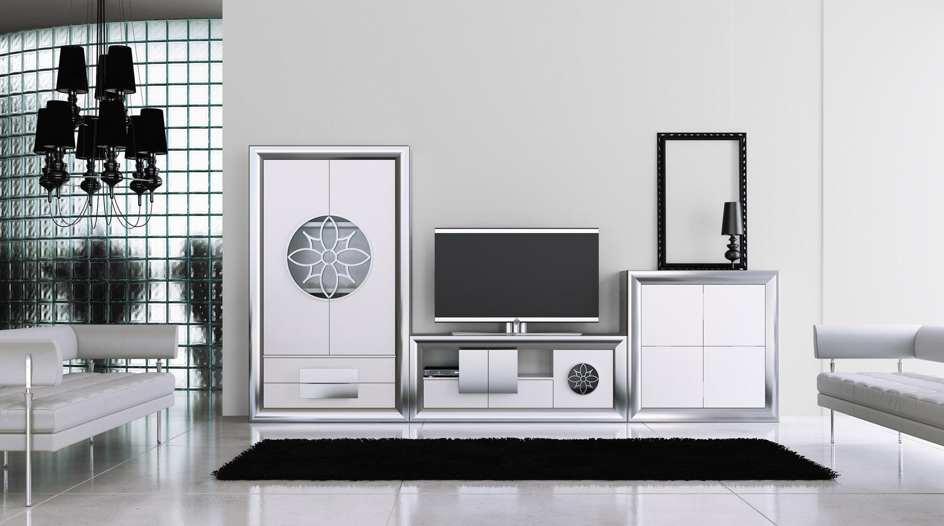 Muebles Murales Para Salon. Stunning Mueble De Saln Con Luces Led ...